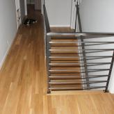 White Oak Select 2.25 Hallway & Downstairs w/ Custom Railing