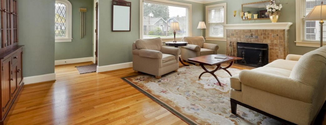 Hardwood floors are warm and inviting.