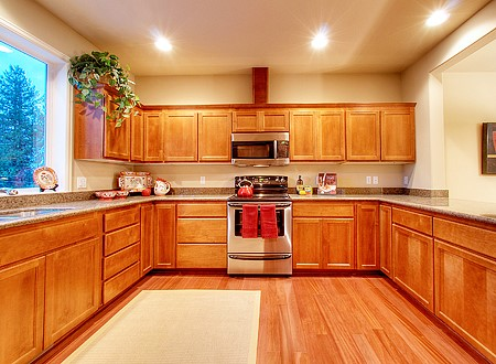 kitchen wood floor matching floor designs with cabinet choices 3507